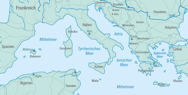 Mittelmeer Karte Inseln.Die Segelreviere Im Mittelmeer Pco Yachting Yachtcharter