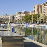 Alboran marina on the promenade