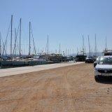 Parkplätze in der Marina Kastela