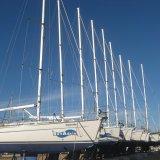 Yachten an Land in der Marina Kastela