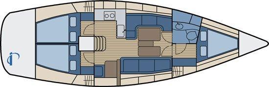 Bavaria 38 match - 3 cabins