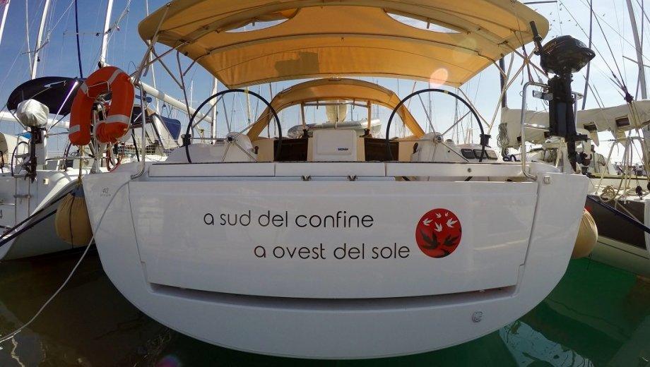 """Dufour 412 GL in Cecina """"A Sud del Confine"""""""
