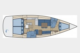 Océanis 50 - 3 cabin